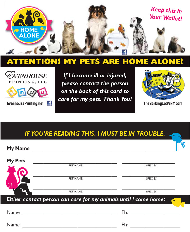 image relating to My Dog is Home Alone Card Printable titled Business office Playing cards Evenhouse Printing